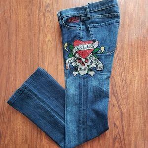 ❤Ed Hardy Love Kills Slowly Jeans